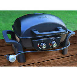 2-burner Portable Grill Cast Aluminum Table Top Gas Bbq Propane Gas Outdoor Camp