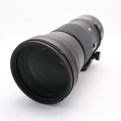 Secondhand Sigma 150-600mm F5-6.3 Dg Os Hsm For Canon Ef Lens Interchangeable