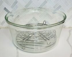 Flavor Wave Turbo Convection Oven Ax-767mh Glass Bowl W/ Dome Racks Replacement