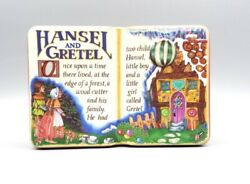 Vintage 1995 The Silver Crane Company Tin Box Made In England Hansel And Gretel