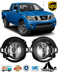 For 2010-2019 Nissan Frontier Fog Lights Driving Bumper Lamps Wiring Switch Kits