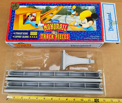Disney Monorail Track Pieces 4-staight Beams And 1-support Column New And Unused