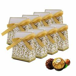 50PCS Mini Wedding Favor Box Gift Boxes Candy Boxes with Gift Ribbons for Wedd $19.94
