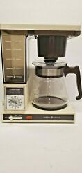 Vintage General Electric Brew Starter 10 Cup Automatic Drip Coffee Maker B2-3390
