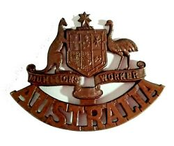 Antique Ww1 Australian Munitions Worker Bronze Badge - Stokes And Sons