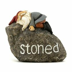 Miniature Fairy Garden Stoned Gnome Resting On Faux Rock - Buy 3 Save 5