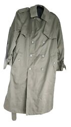 Towne By London Fog Industries Trench Coat Mens Size 38 Sht Olive Green