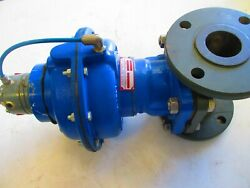 Air Actuated Diaphragm Valve Century 2-1/2 Flanged Rubber Lined Di Body
