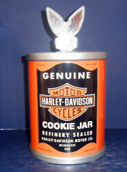 Vandor Harley Davidson Oil Can Cookie Jar 59142 - From 1998- New In Box