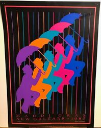 Mardi Gras Poster New Orleans 1984-1985 Leslie Weisbart Signed/numbered Rare