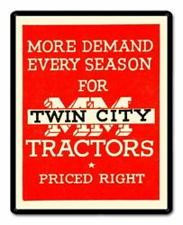 Twin City Tractors Priced Right 15 Heavy Duty Usa Made Metal Advertising Sign