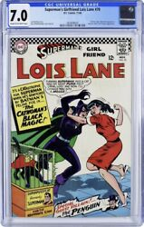 Superman's Girlfriend Lois Lane 70 Cgc 7.0 First Silver Age Catwoman 🔥