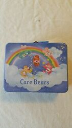 Care Bears Have A Rainbow Day 2002 Rix Production Llc Co Tin Metal Box Lunchbox