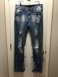 Dsquared2 Mens Size 34x34 Distressed Slim Fit Jeans