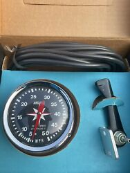 Vintage Airguide Sea-speed Marine Boat Speedometer Model 850 3 To 50 Mph