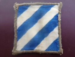 Wwii 3rd Infantry Division Patch Italian Made Military Uniform Insignia Ssi Rare