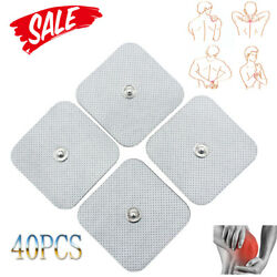 Newly 40x Snap On Replace Electrode Pads For Tens Unit Self Adhesive Stud Usa