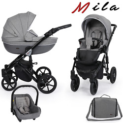 Baby Travel System Pushchair 3 In 1 Car Seat Foldable Pram Buggy From Birth