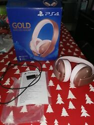 Casque Sony Gold Ps4 Rose
