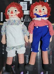 Rare And Authentic Raggedy Ann And Andy Dolls Knickerbocker 36