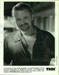 Press Photo Country Singer Lee Roy Parnell On 18 Wheels Of Justice On Tnn.
