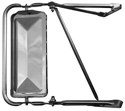 West Coast Stainless Steel Mirror Assembly 80-96 Ford Bronco F150 F250 F350right