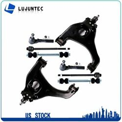 Suspension 8 Lower Control Arms Sway Bars Kit For 99-03 Chevy Silverado 1500 2wd
