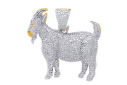 1.85 Ct Round Cut Diamond In Goat Shape Pendent 10k Yellow Gold