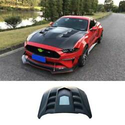 For Ford Mustang 2018-21 Gtss Carbon Fiber Replacement Engine Hood Bonnet Cover
