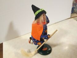 Byers Choice Spooktacular 2008 Halloween Witch Girl With Candy Corn Dress