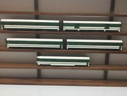 Mth 20-6517 O Southern 70' Smooth Streamlined Passenger Car Set Of 5 3-rail