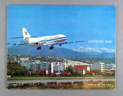 Air Inter Airline Annual Report Exercice 1966 Caravelle Route Map France