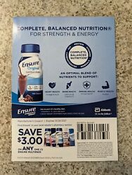 Lot Of 25 3.00 Off One 1 Ensure Multipack Coupons
