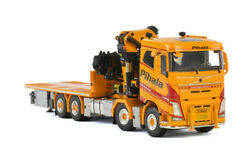 1/50 For Volvo Fh4 Sleeper Cab 8x4 Riged Flatbed Truck Palfinger 15000.2 Truck