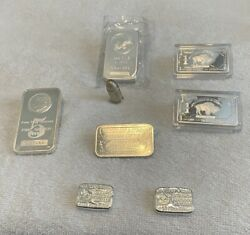 1 Pound Or 16 Ounces Solid Fine Silver Lot Of 8 Pieces All Stamped .999