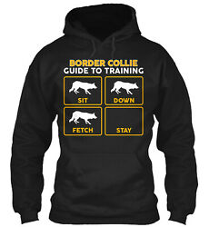 Funny Border Collie Shirt Training Guide Pullover Hoodie Poly Cotton Blend