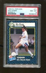 Mia Hamm 1992 Sports Illustrated For Kids Card 71 Series 2 Rc Us Soccer Psa 8