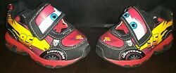 Disney Cars Lightening Mcqueen Light-up Boys Athletic Shoes Size 5t