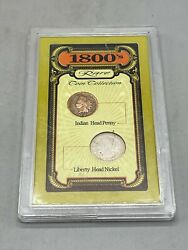 Vintage 1800's Rare Coin Collection Indian Head Penny 1893 Liberty Head Nickel