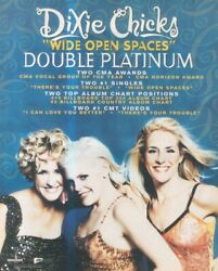 Sfbk53 Poster Advert 13x11 The Dixie Chicks Wide Open Spaces