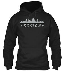 Teespring Boston Skyline Classic Pullover Hoodie Poly Cotton Blend