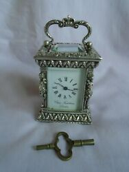 Charles Frodsham Solid Silver Miniature Carriage Clock Limited Edition 1978 Gwo