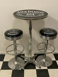 Jack Daniels Tennessee Whiskey Premium Bar Stools X 2 And Table Adj Height