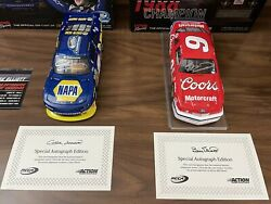 Autographed Chase And Bill Elliott Nascar Champions 2-car Set 1/24 Action Diecast
