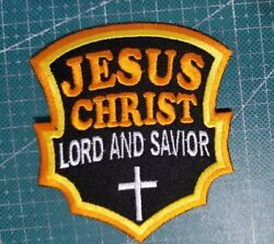 Jesus Christ Lord And Savior 3.5 Christian Embroidery Patch