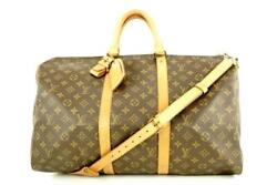 Louis Vuitton Monogram Keepall Bandouliere 50 Duffle Bag With Strap 1lvlm621