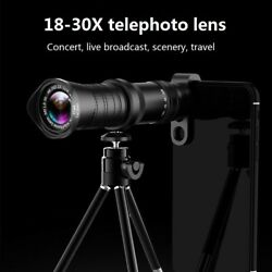 4k Hd 18x-30x Zoom Telephoto Cell Phone Camera Lens For Samsung Galaxy S20 Ultra