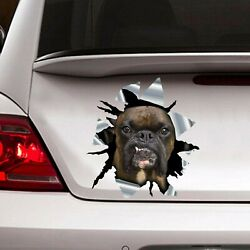 Brindle Boxer Car Decal Love Dog Car Sticker Waterproof Wall Decal Window Decal