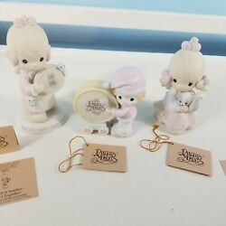 Precious Moments Figurines Lot Of 3 Figurines No Blemishes Skunk Birds Drum