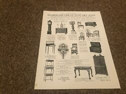 Aabk19 Antiques Advert 11x8 Hapmton's Of Pall Mall Great January Sale